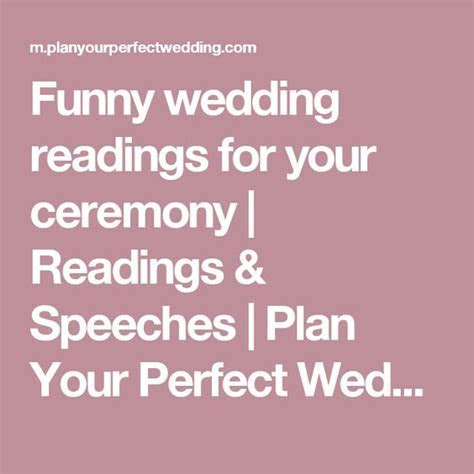Funny wedding readings for your ceremony   Funny, Places
