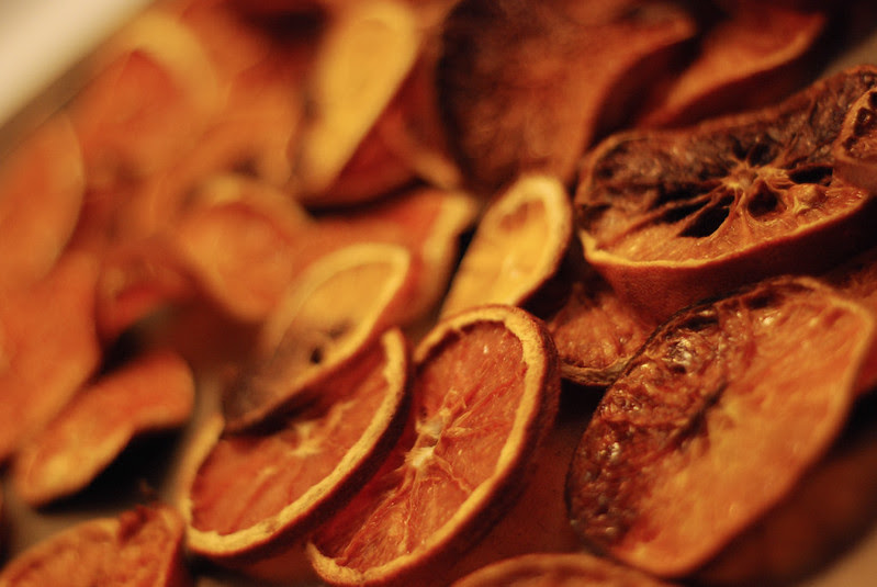 Home dried oranges