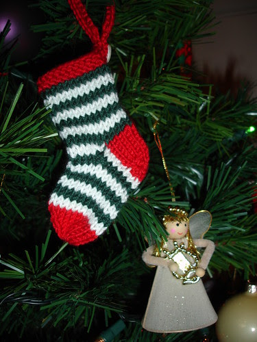 Mini stockings on the tree