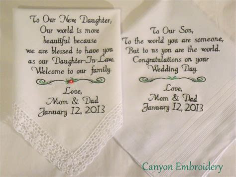 New Daughter Son Wedding Gift From Mom and Dad to the