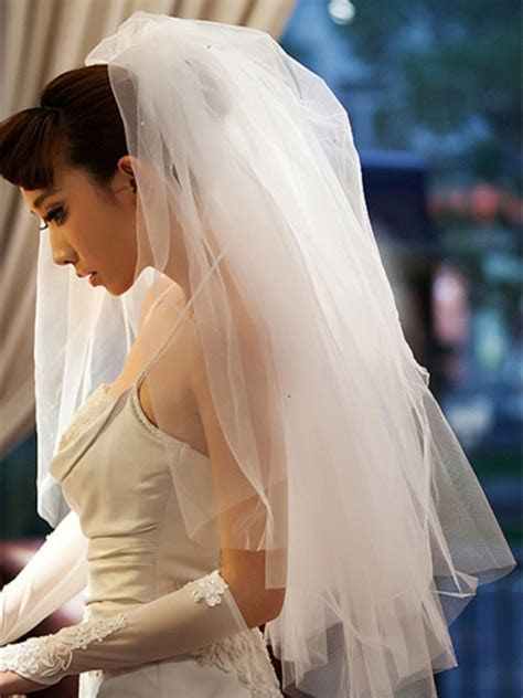 Cheap Wedding Veils, Lace Ivory Wedding Veils Online for
