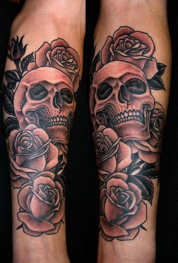 Rose Tattoo With Skulls Tattoomagz