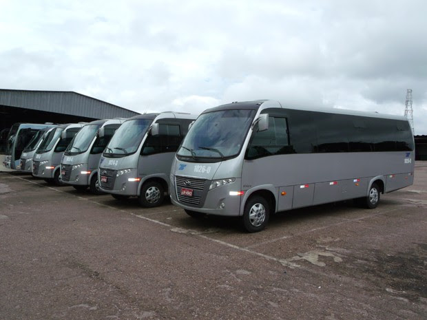 Micro-ônibus que operarão entre o Sudoeste e a Esplanada dos Ministérios (Foto: DFTrans/ Divulgação)