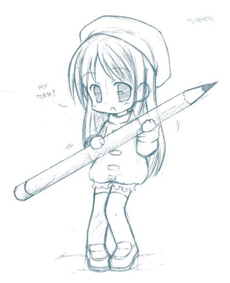 anime chibi drawings pencil codepng projects