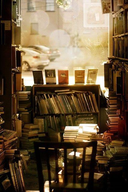 Light in a bookstore
