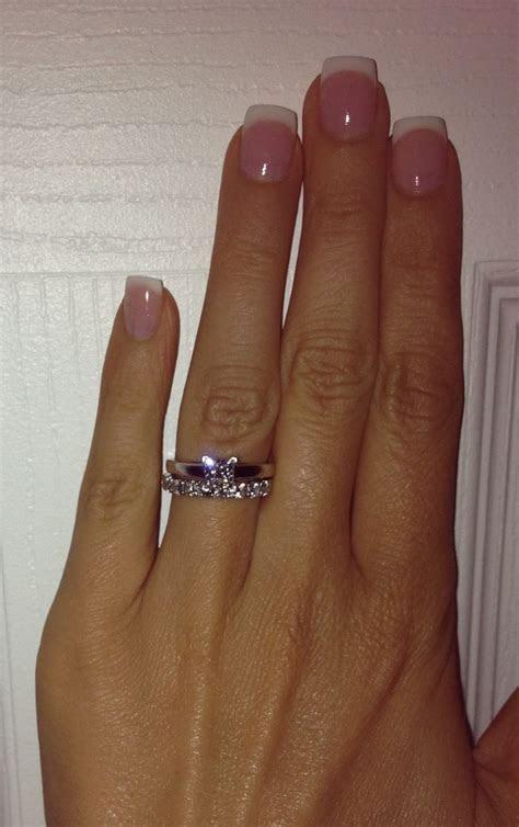 Leo diamond set. 1carat princess cut solitaire and 0.69