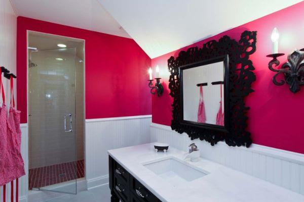 Black And Pink Bathroom Decor. Pink And Black Bathroom How To Create A Feminine Bathroom Interior Decor