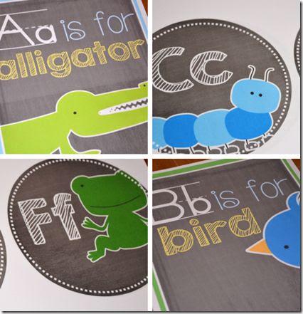 Alphabet Card Set and Word Wall Set
