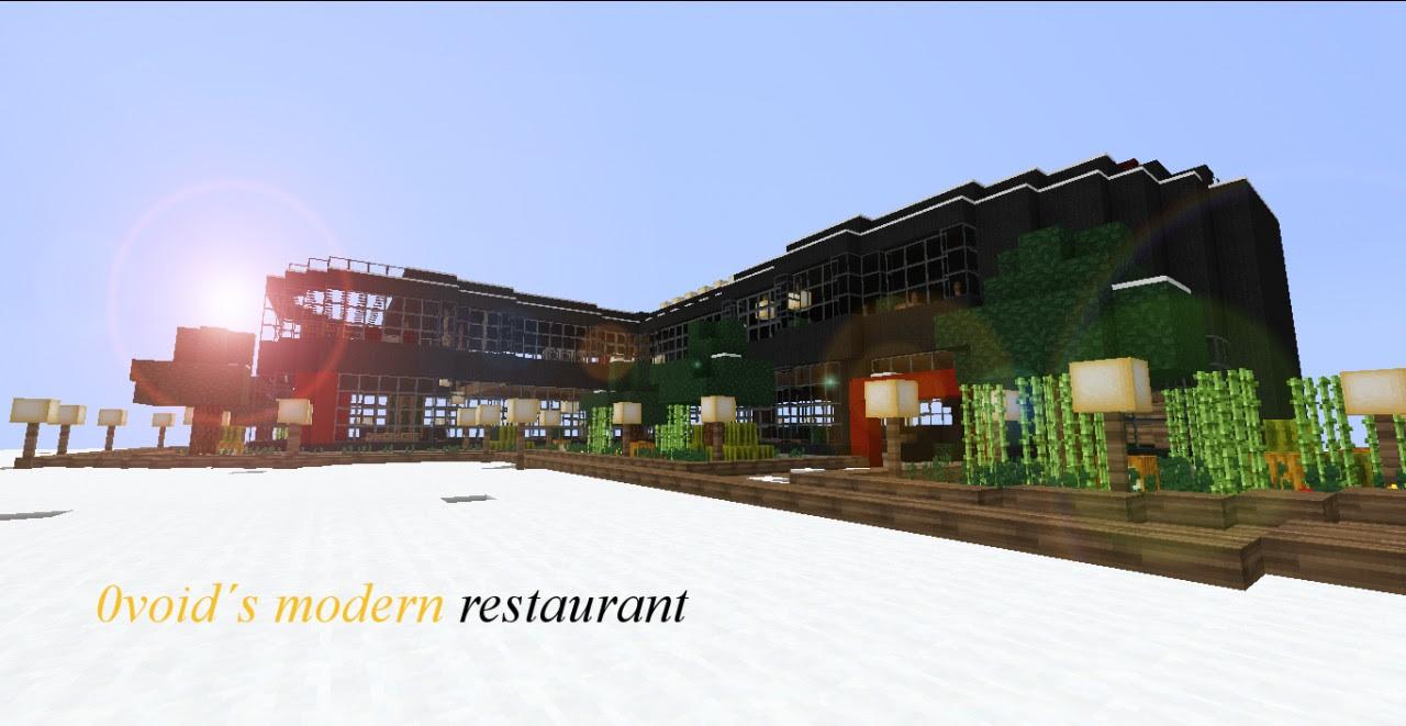 (first project) 0void's Modern Restaurant Minecraft Project