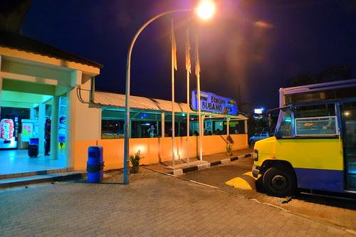 Subang Jaya station at night