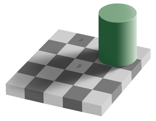 Grey square optical illusion