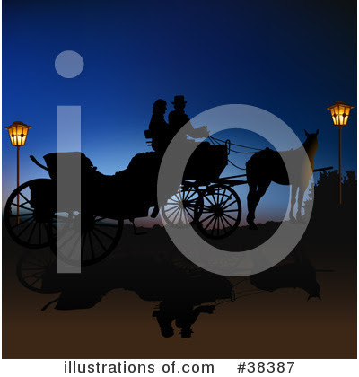 RoyaltyFree RF Carriage Clipart Illustration by dero Stock Sample