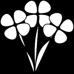 Three White Flowers Clip Art At Clkercom Vector Clip Art Online