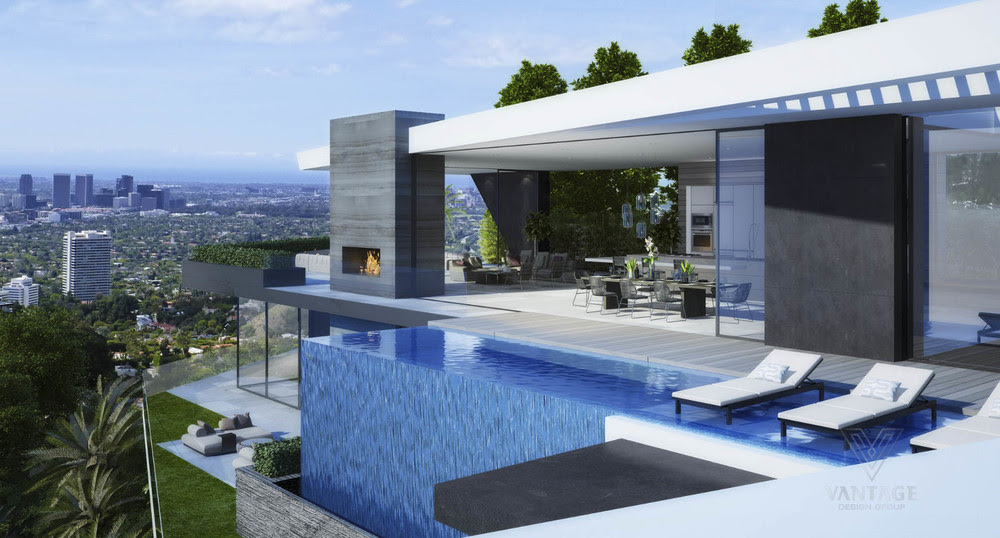 Modern Home Waterfallinterior Design Ideas
