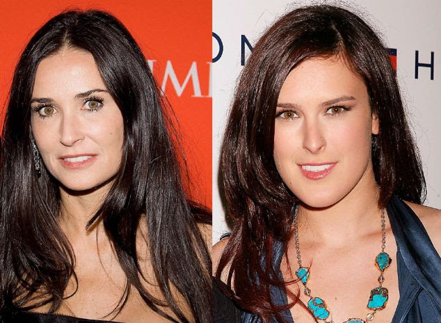 Moore on the same: Actress Demi and singer Rumer Willis look like sisters
