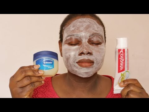 I APPLIED COLGATE TOOTHPASTE AND VASELINE ON MY FACE TO SEE WHAT HAPPENED