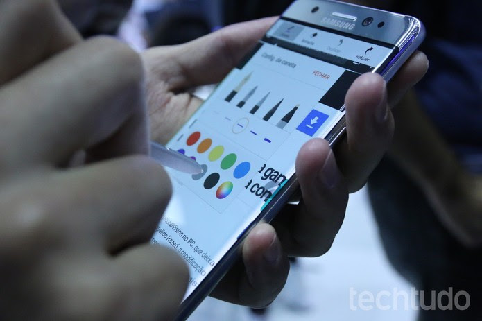 Novo Galaxy Note 7, da Samsung, pega fogo nos Estados Unidos (Foto: Ana Marques/TechTudo) (Foto: Novo Galaxy Note 7, da Samsung, pega fogo nos Estados Unidos (Foto: Ana Marques/TechTudo))