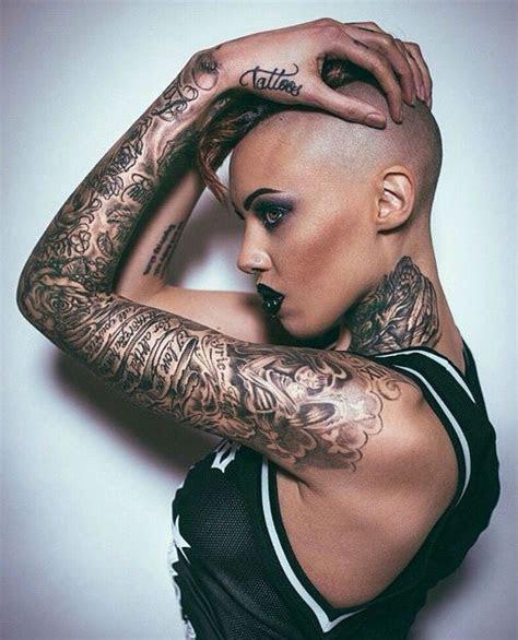shaved head tattoos tattoos beautiful tattoos women