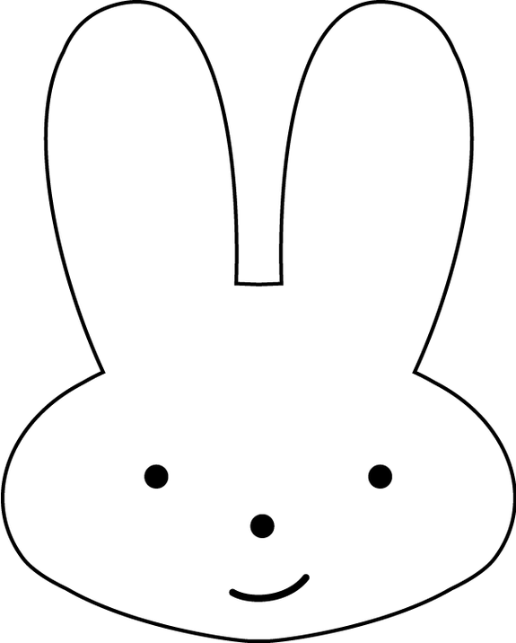 Bunny Head Outline - ClipArt Best