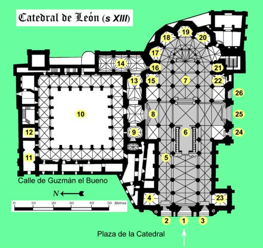 Leon catedral planta