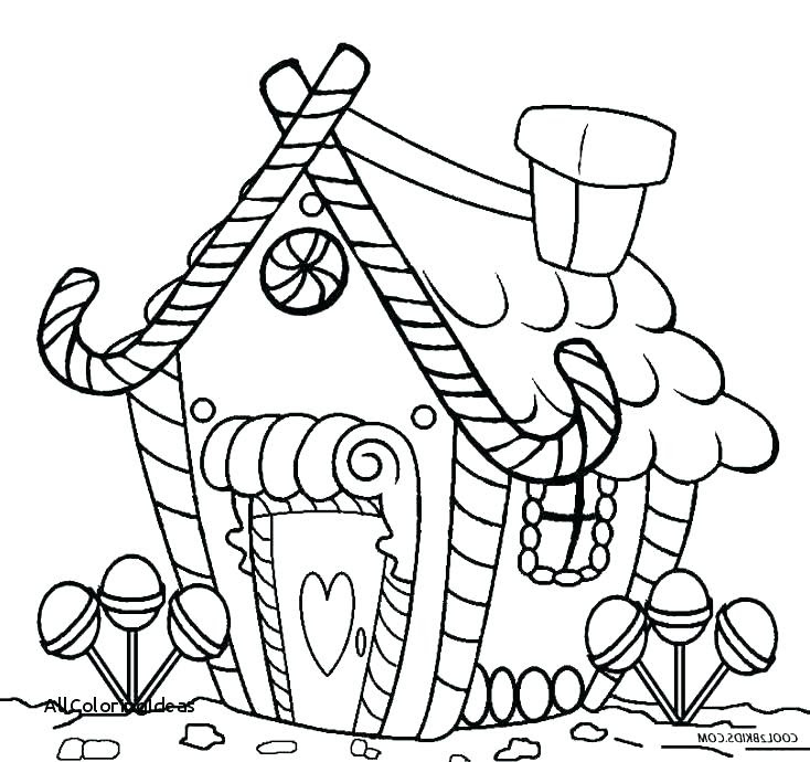 Christmas Coloring Pages Gingerbread House at GetColorings ...