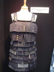 For Antoinette: a dress made out of men's cuffs