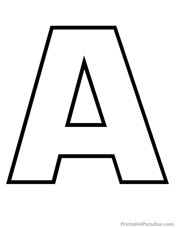 Printable Letters - Print Outline Bubble Letters
