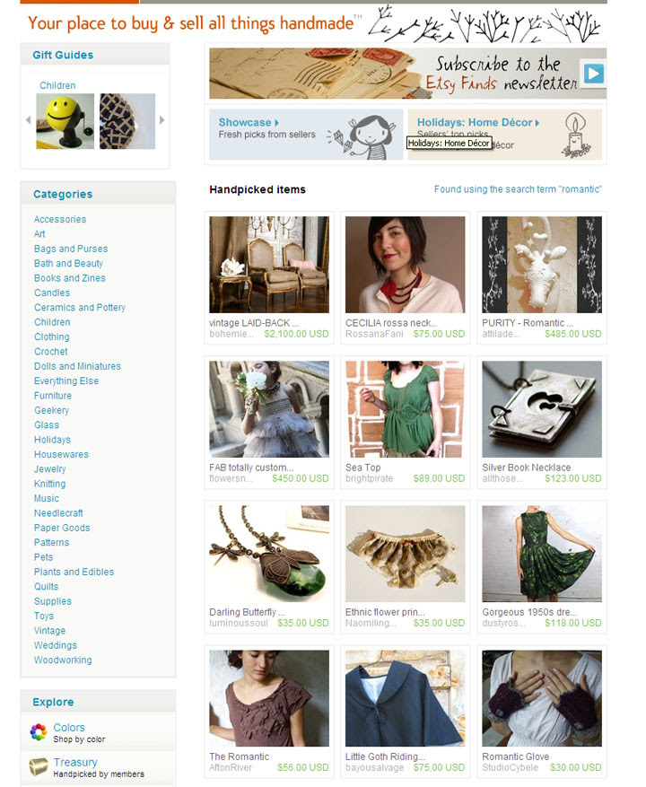 Etsy front page feature :)
