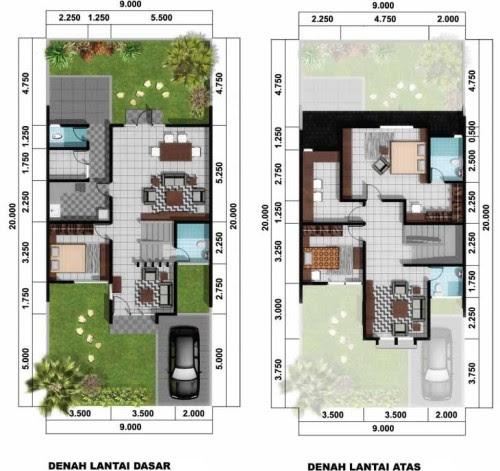 Desain Rumah Minimalis 2 Lantai Type 45 Yang Sempurna