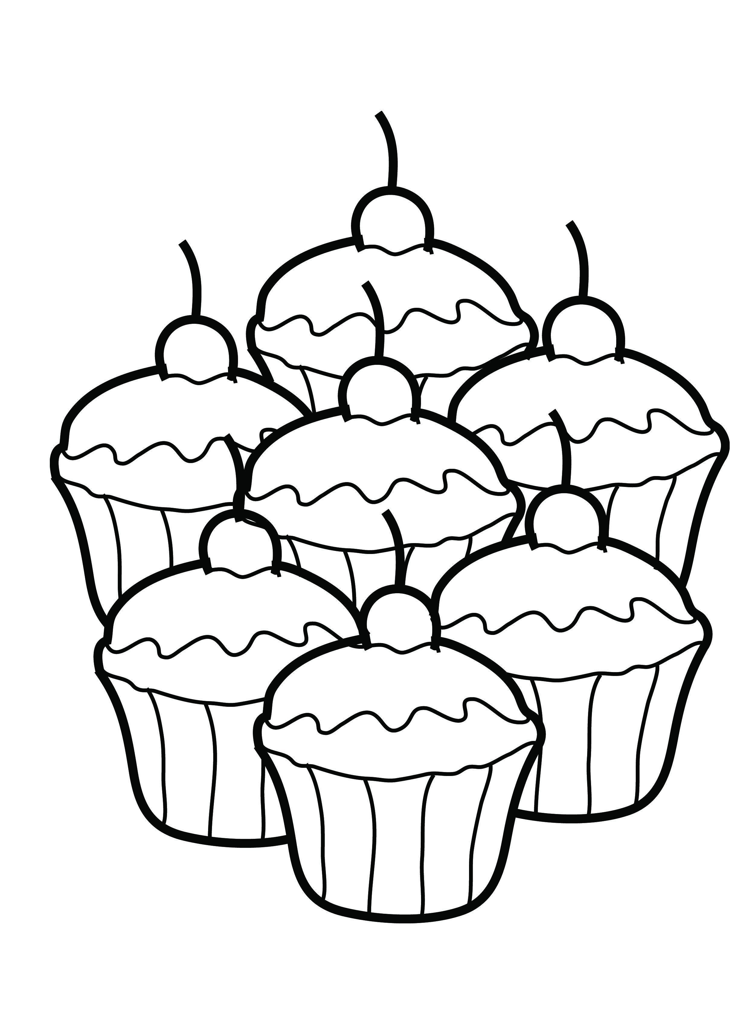 Dessin Cupcake Coloriage  imprimer