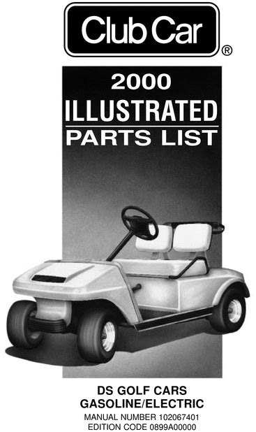 2000 Club Car - DS (Gas & Electric) - Parts List