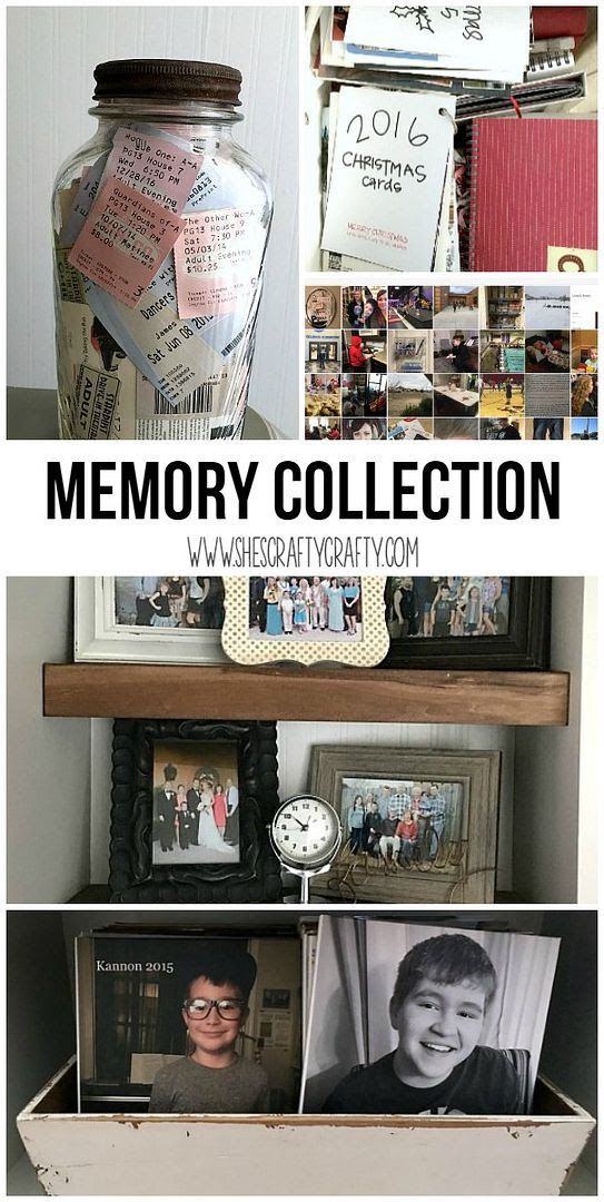 photo collection, memory jar, family photos