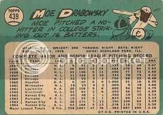 #439 Moe Drabowsky (back)