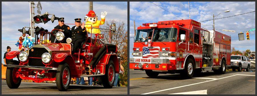 christmas fire trucks