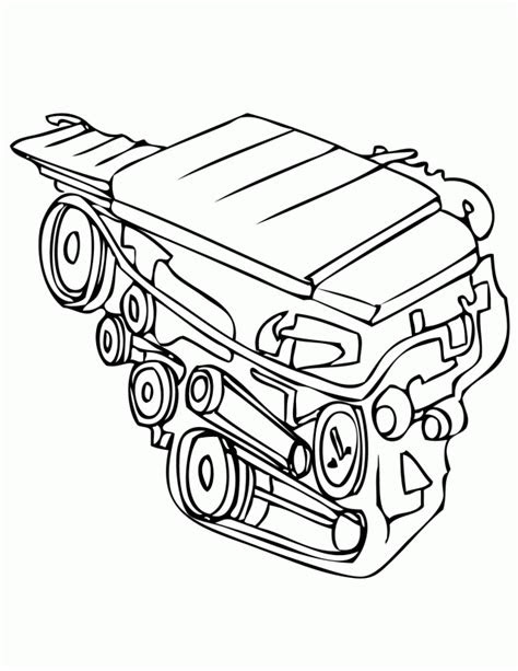 Car Motor Drawing at GetDrawings.com | Free for personal