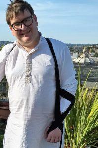 Bill wearing the GivMohr sling