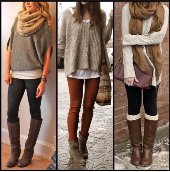 Layering w/ Oversized Sweaters and Leggings -#FallintoAutumn