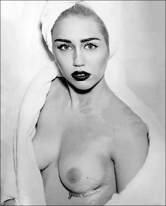 miley cyrus topless vogue germany