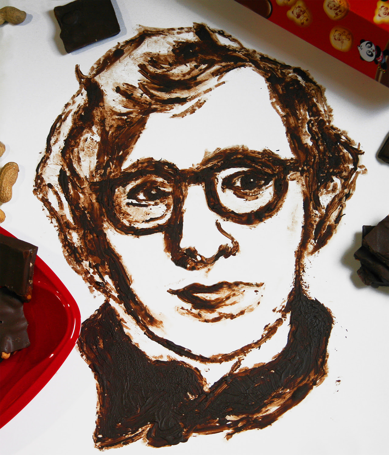 Woody Allen - Dibujo de chocolate negro