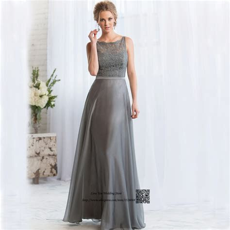 Aliexpress.com : Buy Gray Long Bridesmaid Dresses Lace