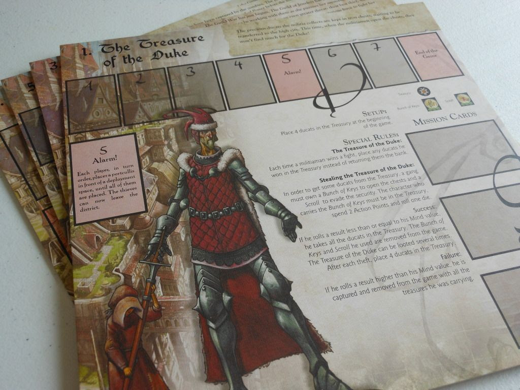 Cadwallon: City of Thieves scenario boards