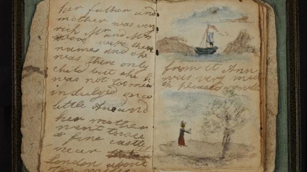 Hemeroteca: comentarios a algunas noticias de Mayo de 2014 - Obras literarias expuestas online por la British Library - primeros escritos de Charlotte Bronte