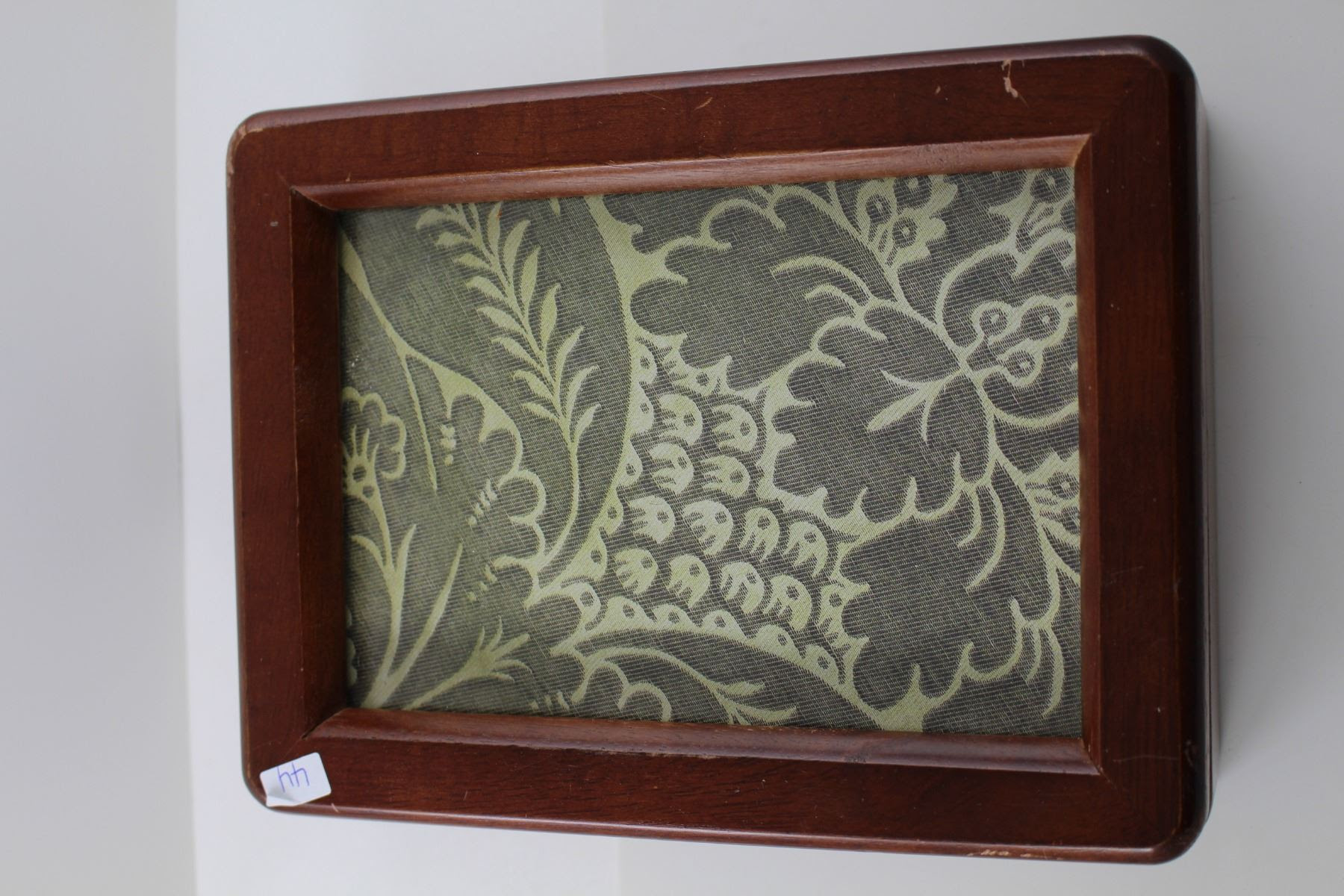 Wooden Frame Jewellery Box Filled With Misc Jewellery