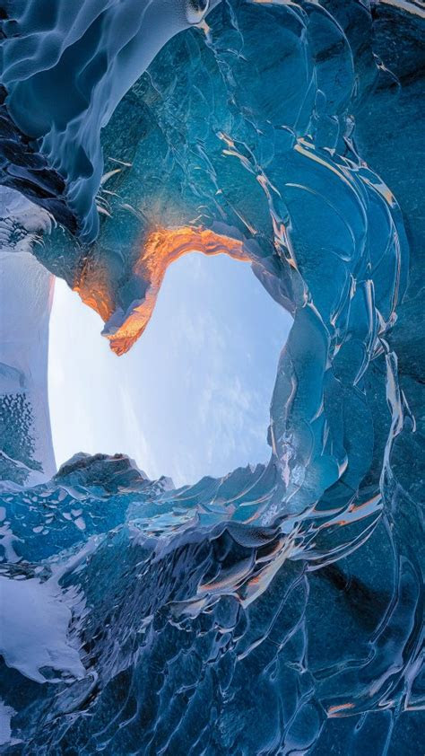 skaftafell ice cave iceland wallpapers hd wallpapers id