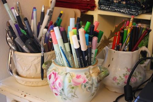 Pencils, pens, etc.