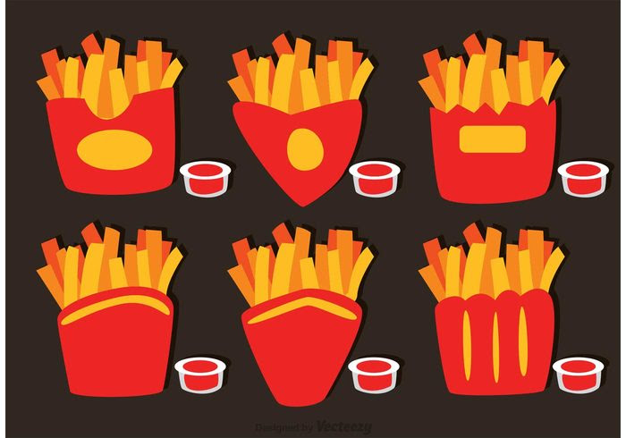 collection-of-french-fries-box-vector
