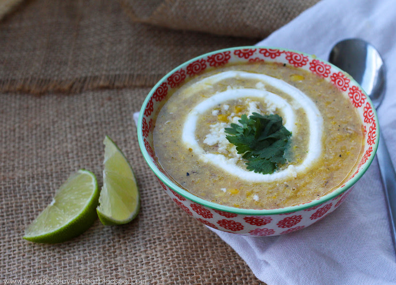 Corn Chowder with Bacon & Green Chiles: Loves Food, Loves to Eat