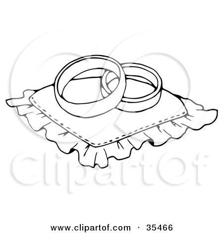 Clipart Illustration of a Black And White Violon Or Viola