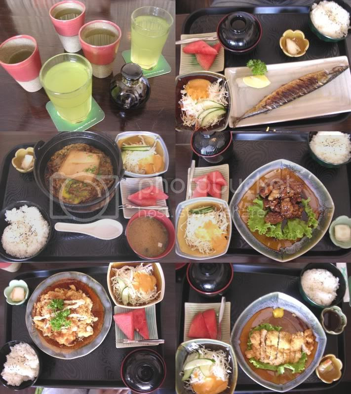 Tsuruya set lunch dishes