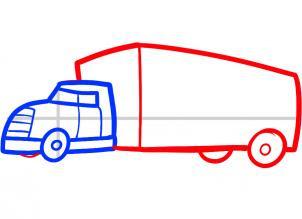 Draw Truck Easy Drawing Art Ideas